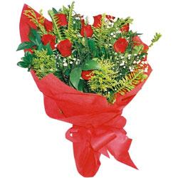 10 adet kirmizi gül buketi  Konya uluslararası çiçek gönderme