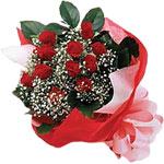 Konya yurtiçi ve yurtdışı çiçek siparişi  KIRMIZI AMBALAJ BUKETINDE 12 ADET GÜL
