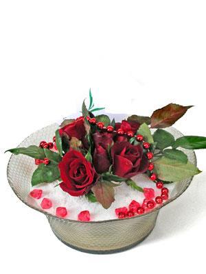 Konya İnternetten çiçek siparişi  EN ÇOK Sevenlere 7 adet kirmizi gül mika yada cam tanzim