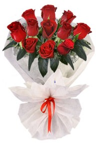 11 adet gül buketi  Konya çiçek yolla , çiçek gönder , çiçekçi   kirmizi gül