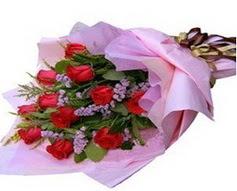 11 adet kirmizi güllerden görsel buket  Konya cicekciler , cicek siparisi