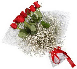 7 adet kirmizimi kirmizi gül buketi  Konya ucuz çiçek gönder