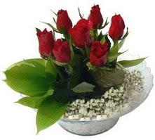Konya yurtiçi ve yurtdışı çiçek siparişi  cam yada mika içerisinde 5 adet kirmizi gül