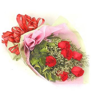 Konya çiçek online çiçek siparişi  6 adet kırmızı gülden buket