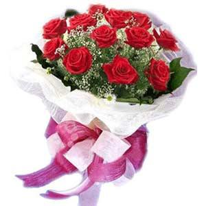 Konya hediye sevgilime hediye çiçek  11 adet kırmızı güllerden buket modeli