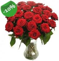 Vazo içerisinde 25 adet kırmızı gül  Konya çiçek yolla