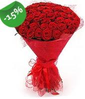 51 adet kırmızı gül buketi özel hissedenlere  Konya güvenli kaliteli hızlı çiçek