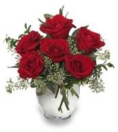 Vazo içerisinde 5 adet kırmızı gül  Konya kaliteli taze ve ucuz çiçekler