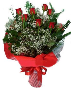 7 kırmızı gül buketi  Konya çiçekçi mağazası