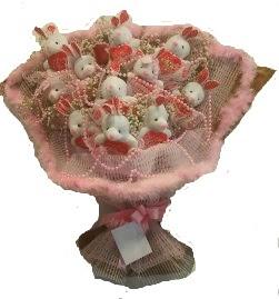 12 adet tavşan buketi  Konya çiçek siparişi sitesi