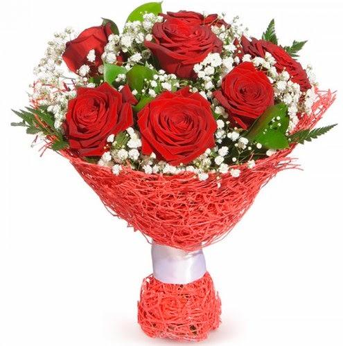 7 adet kırmızı gül buketi  Konya online çiçekçi , çiçek siparişi