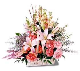 Konya güvenli kaliteli hızlı çiçek  mevsim çiçekleri sepeti özel tanzim