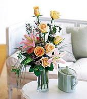 Konya çiçek online çiçek siparişi  cam yada mika vazo içerisinde gül kazablanka