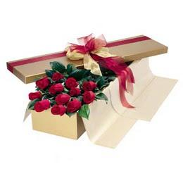 Konya çiçek gönderme  10 adet kutu özel kutu