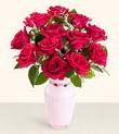Konya çiçek mağazası , çiçekçi adresleri  10 kirmizi gül cam yada mika vazo tanzim