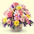Konya çiçekçi telefonları  sepet içerisinde gül ve mevsim