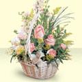 Konya çiçek satışı  sepette pembe güller