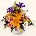Konya çiçek satışı  sepet içinde karisik çiçekler