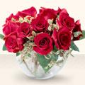 Konya hediye çiçek yolla  mika yada cam içerisinde 10 gül - sevenler için ideal seçim -