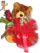 oyuncak ayi ve gül tanzim  Konya online çiçekçi , çiçek siparişi
