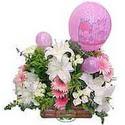 balon ve çiçeklerle tanzim  Konya yurtiçi ve yurtdışı çiçek siparişi