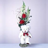 2 adet gül ve panda özel  Konya kaliteli taze ve ucuz çiçekler