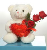 3 adetgül ve oyuncak   Konya çiçek siparişi vermek