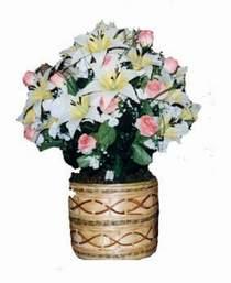 yapay karisik çiçek sepeti   Konya çiçekçi mağazası