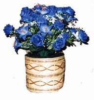 yapay mavi çiçek sepeti  Konya çiçek gönderme