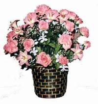 yapay karisik çiçek sepeti  Konya hediye çiçek yolla