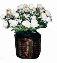 yapay karisik çiçek sepeti   Konya çiçek yolla