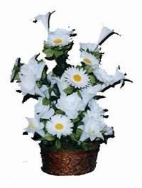 yapay karisik çiçek sepeti  Konya İnternetten çiçek siparişi