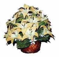 yapay karisik çiçek sepeti   Konya güvenli kaliteli hızlı çiçek