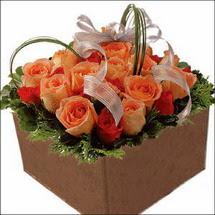 kare sandikta 11 gülllerden   Konya kaliteli taze ve ucuz çiçekler