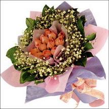 11  adet  gül ve   elyaflar   Konya kaliteli taze ve ucuz çiçekler