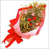12 adet renkli  gül buketi   Konya kaliteli taze ve ucuz çiçekler