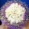 71 adet beyaz gül buketi   Konya çiçek online çiçek siparişi