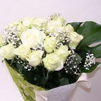 Konya çiçek mağazası , çiçekçi adresleri  11 adet sade beyaz gül buketi