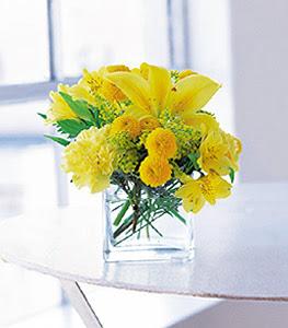 Konya çiçek servisi , çiçekçi adresleri  sarinin sihri cam içinde görsel sade çiçekler