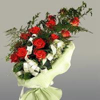 Konya çiçek servisi , çiçekçi adresleri  11 adet kirmizi gül buketi sade haldedir