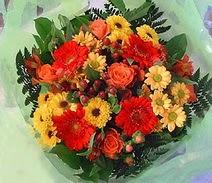 Konya çiçek servisi , çiçekçi adresleri  sade hos orta boy karisik demet çiçek