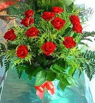12 adet gül buketi  Konya çiçek , çiçekçi , çiçekçilik