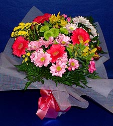 karisik sade mevsim demetligi   Konya çiçek satışı