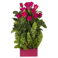 12 adet kirmizi gül aranjmani  Konya çiçek siparişi sitesi