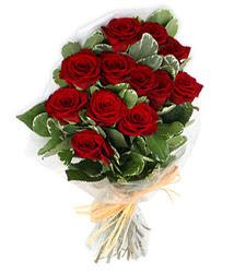 Konya online çiçek gönderme sipariş  9 lu kirmizi gül buketi.