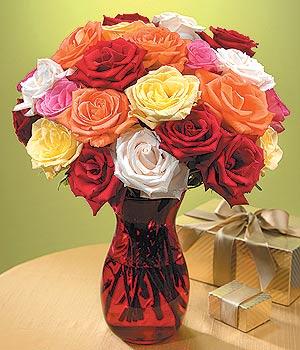 Konya çiçek , çiçekçi , çiçekçilik  13 adet renkli gül