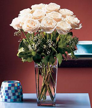 Konya ucuz çiçek gönder  Cam yada mika vazo içerisinde 12 gül