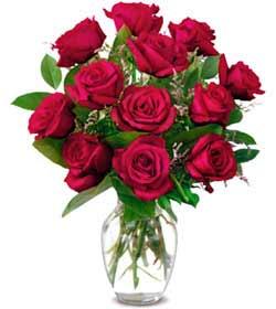Konya çiçek gönderme sitemiz güvenlidir  1 düzine kirmizi gül sevenlere özel vazo gülleri