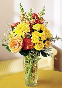 Konya çiçek satışı  mika yada cam içerisinde karisik mevsim çiçekleri