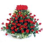 Konya internetten çiçek satışı  41 adet kirmizi gülden sepet tanzimi